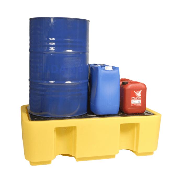 SC2020 Spill Pallet 1300 x 750 x 400mm, 2 Drum, 250 Litres
