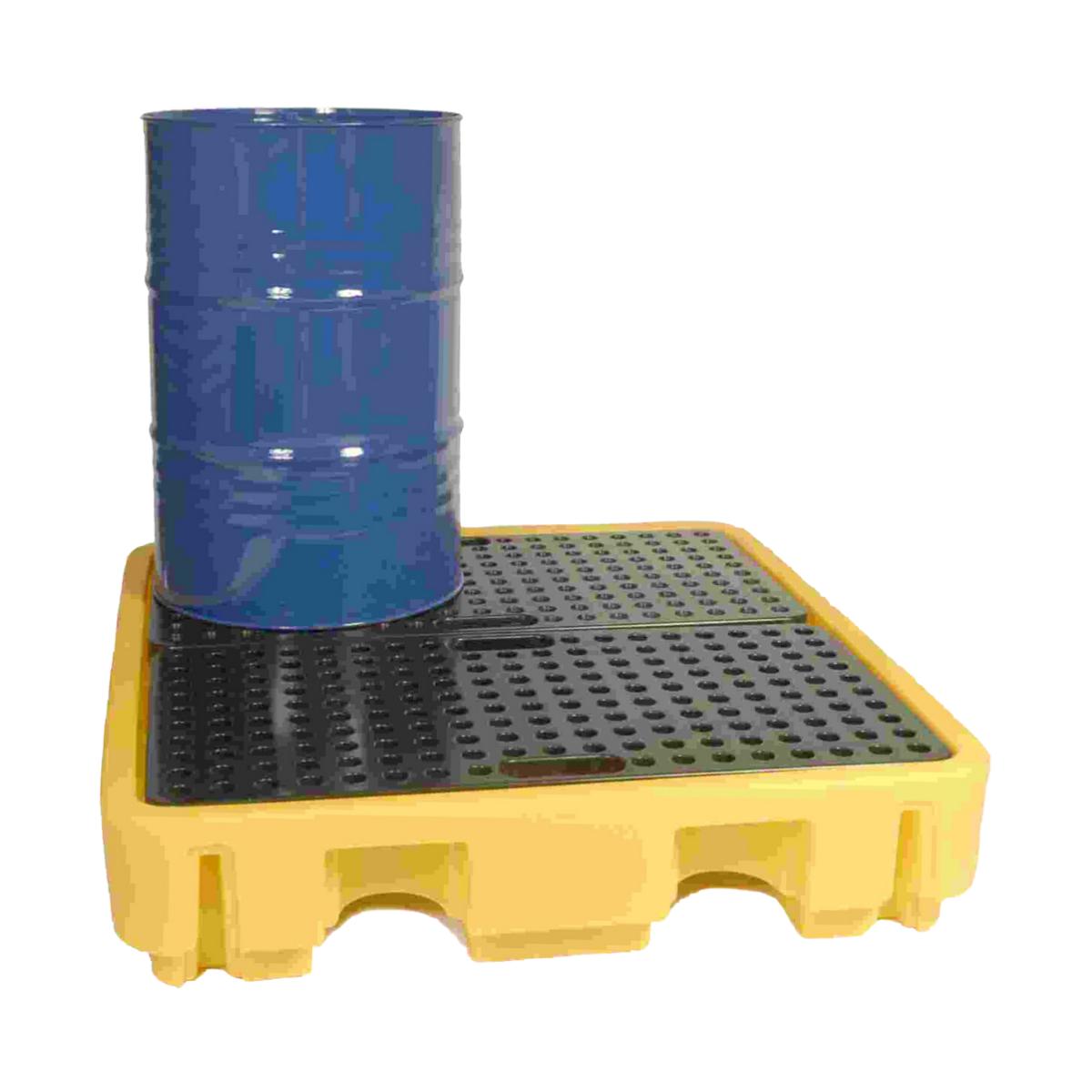 SC2040 Spill Pallet 1380 x 1290 x 280, 4 Drum, 245 Litres