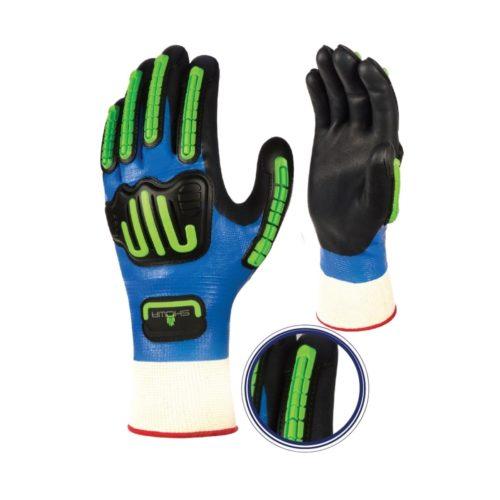 GL0338 Showa Impact, Oil Resistant, Waterproof Nitrile Glove