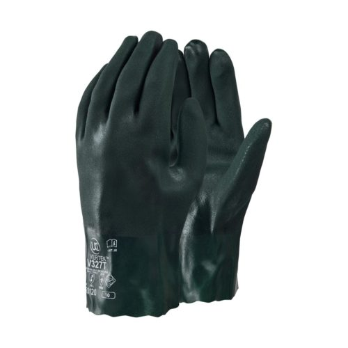GL1170 HAZTEC® Double Dipped Green PVC Gauntlet, 11_ Long