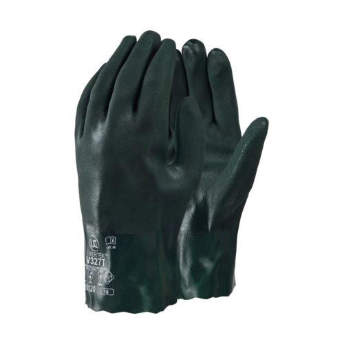 GL1170 HAZTEC® Double Dipped Green PVC Gauntlet, 11_ Long