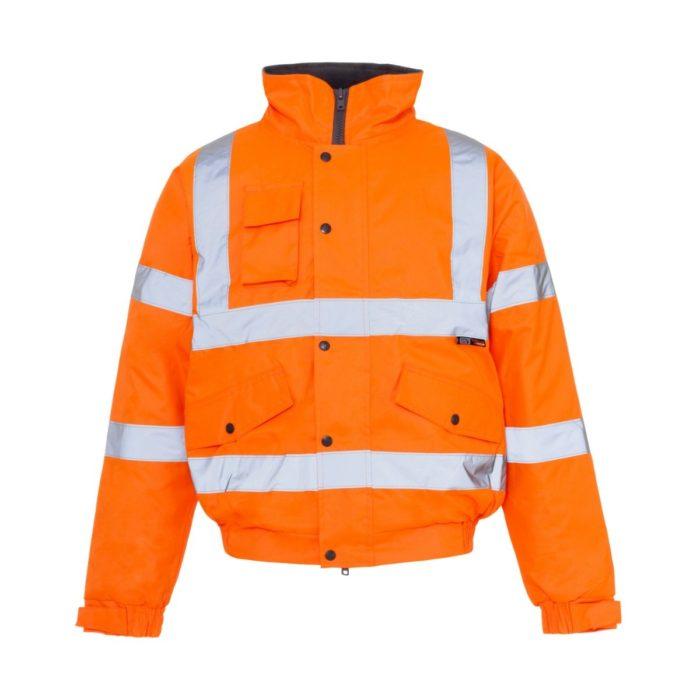 HV0071 Hi-Vis Highway Bomber Jacket - Orange