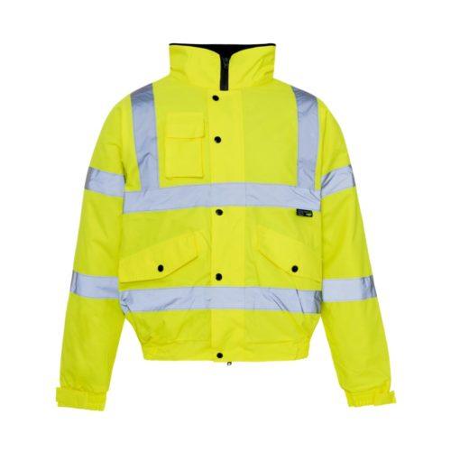 HV0071 Hi-Vis Highway Bomber Jacket - Yellow