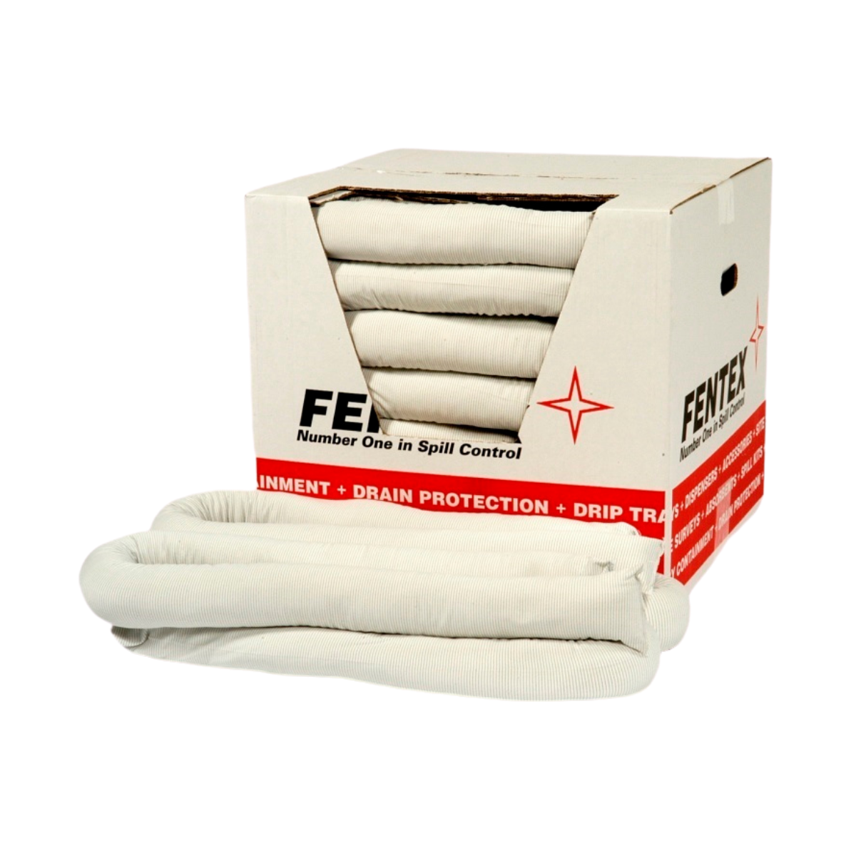 SC0330 Pack of 10 Oil Absorbent 8cm x 1.2m (45L) Spill Socks