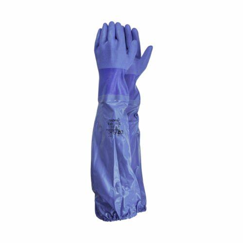 GL0690 Showa Blue PVC Gauntlet, 24_ Long