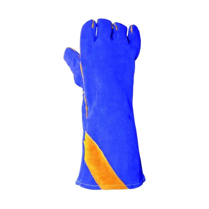 GL2058 Blue_Gold Welding Gauntlets