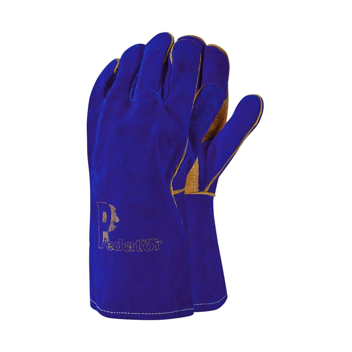 GL2058 Blue_Gold Welding Gauntlets - Main