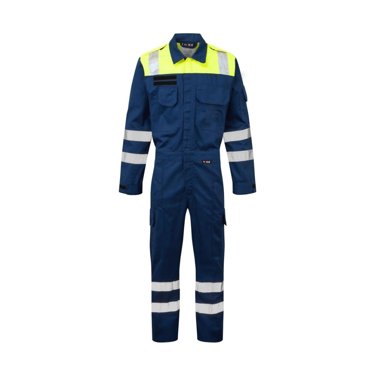 ORKA Mariner Two Tone Reflective Coverall - Navy-HVY