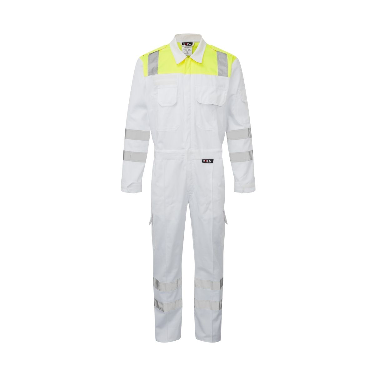 ORKA Mariner Two Tone Reflective Coverall - White-HVY
