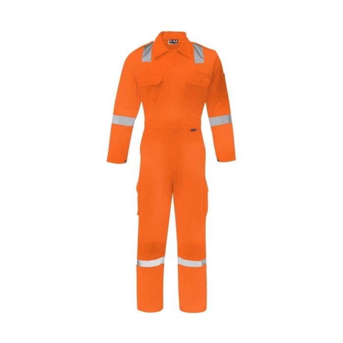 WW1020 ORKA Mariner Contractor Reflective Coverall - Orange