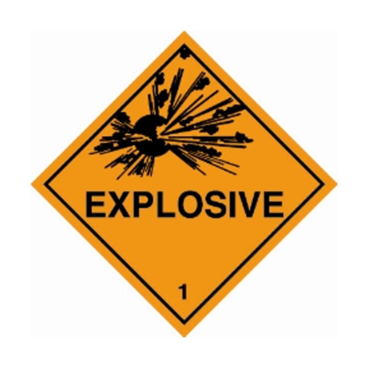 HD1101 UN Hazard Warning Diamond Class 1 Explosive