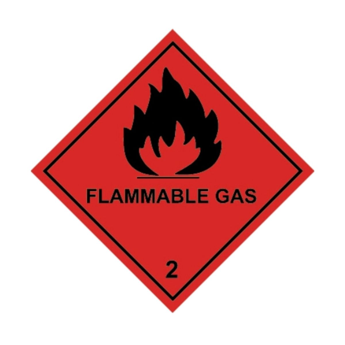 HD1230 UN Hazard Warning Diamond Class 2 Flammable Gas