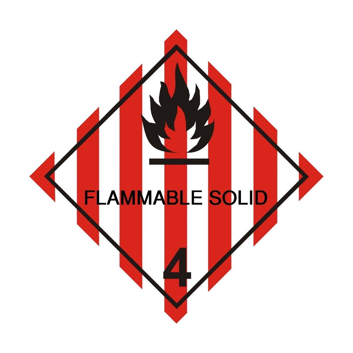 HD1401 UN Hazard Warning Diamond Class 4.1 Flammable Solid