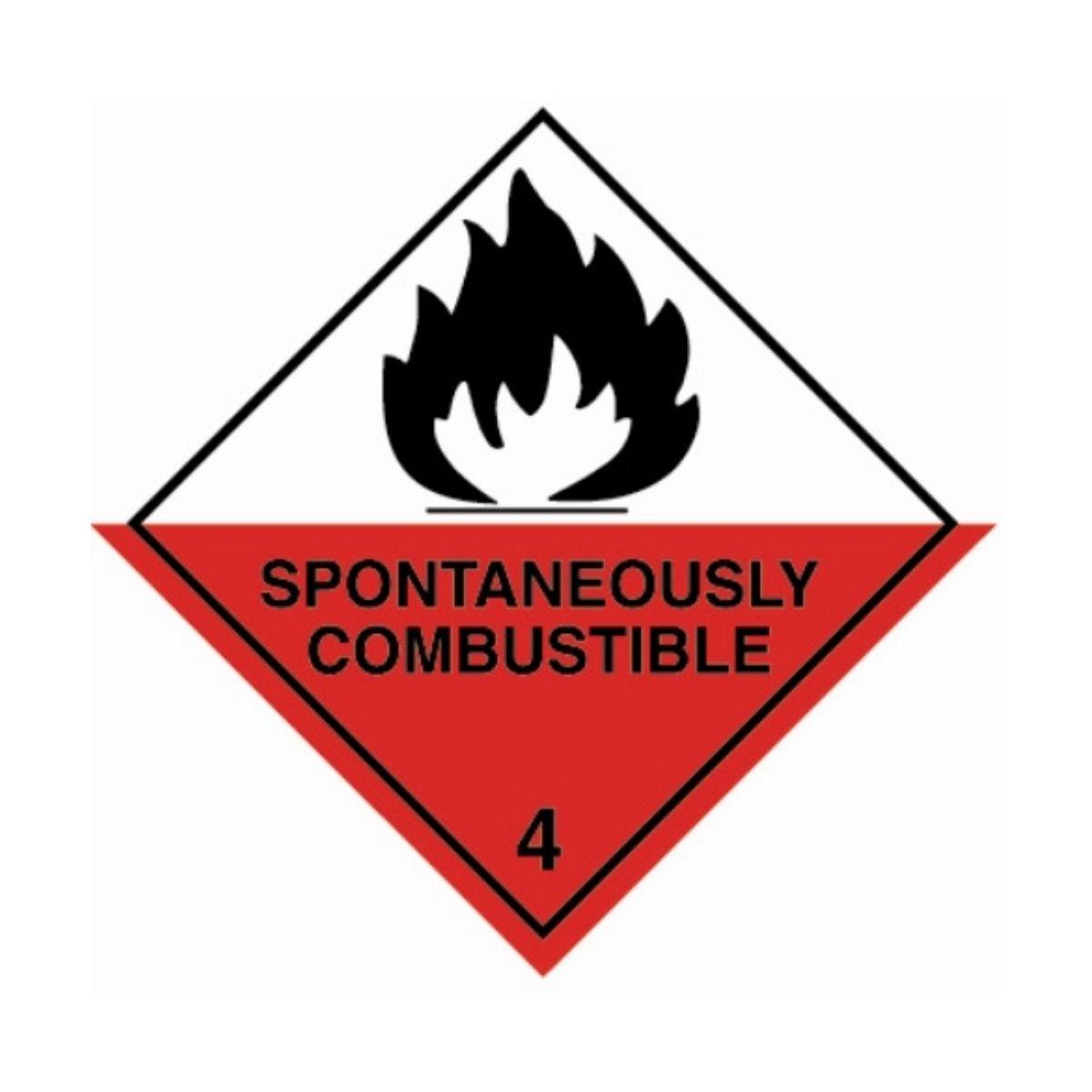 HD1410 UN Hazard Warning Diamond Class 4.2 Spontaneously Combustible