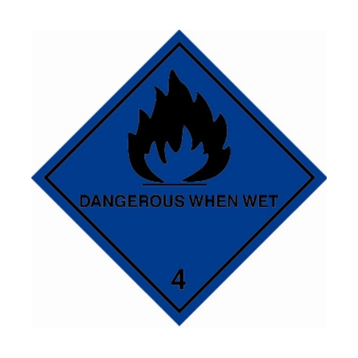HD1412 UN Hazard Warning Diamond Class 4.3 Dangerous When Wet