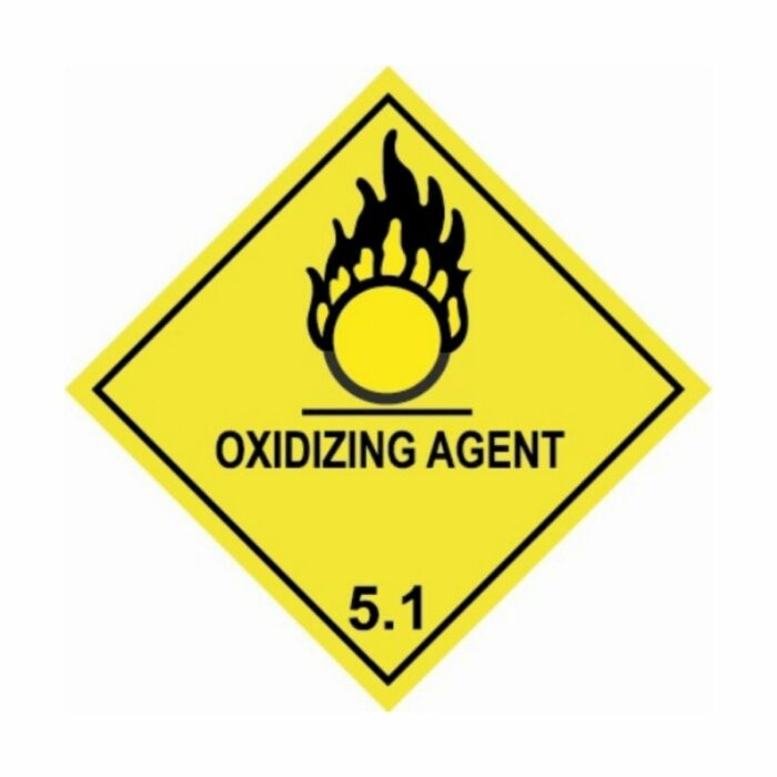 HD1510 UN Hazard Warning Diamond Class 5.1 Oxidizing Substances