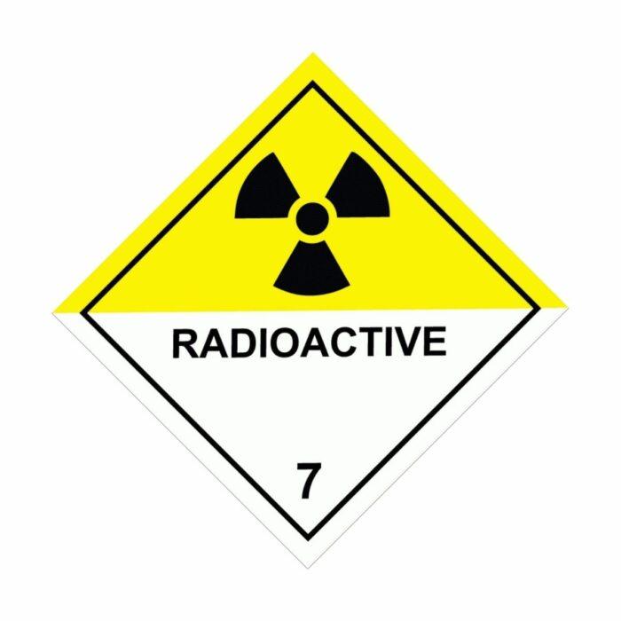 HD1710 UN Hazard Warning Diamond Class 7 Radioactive