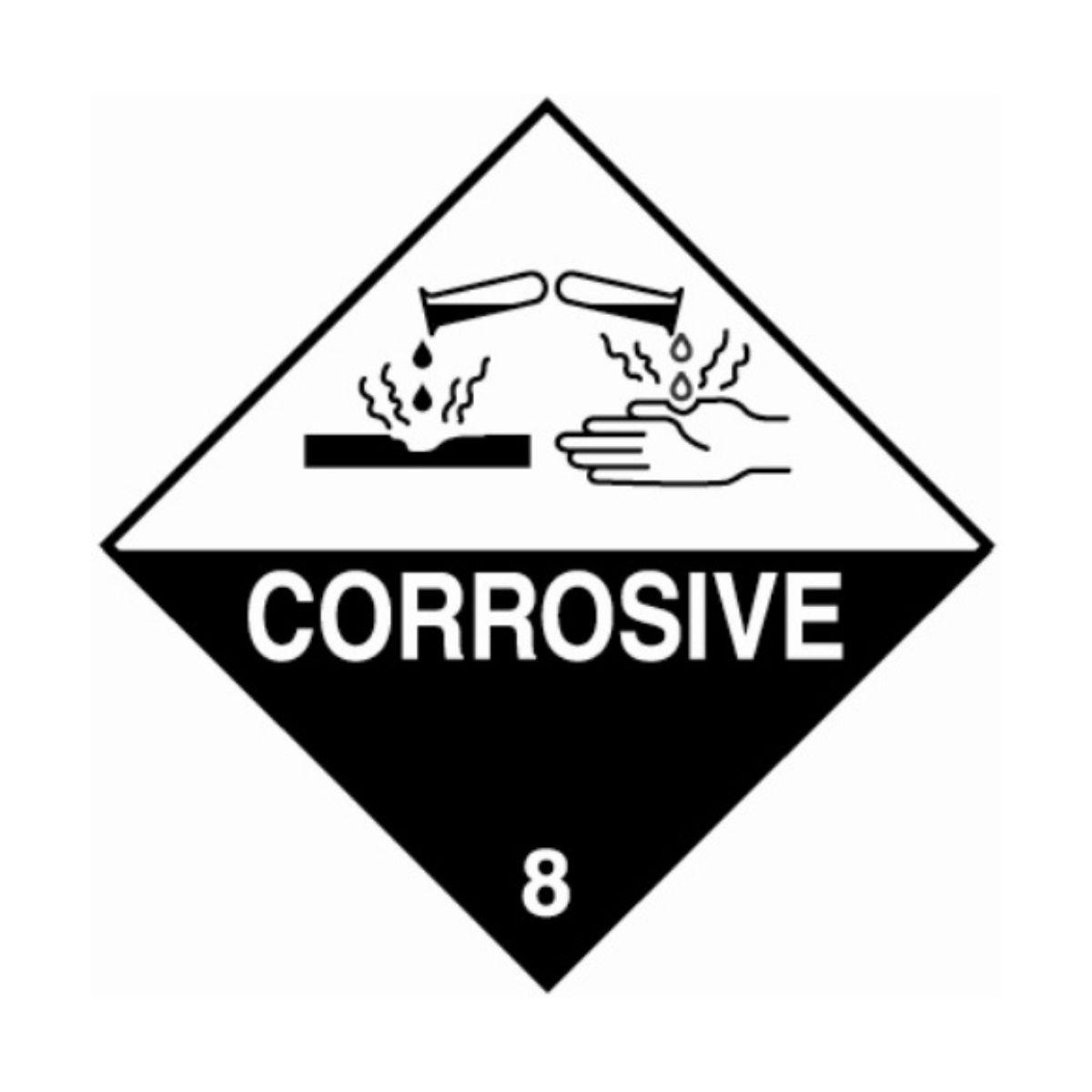 HD1810 UN Hazard Warning Diamond Class 8 Corrosive