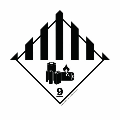 HD1913 UN Hazard Warning Diamond Class 9 Batteries Miscellaneous