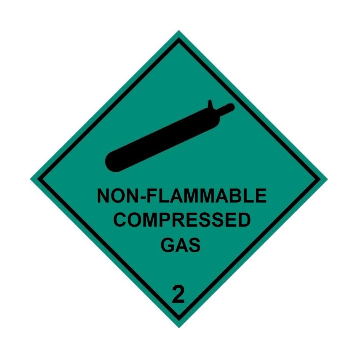 HD2211 UN Hazard Warning Diamond Class 2 Non-Flammable Compressed Gas