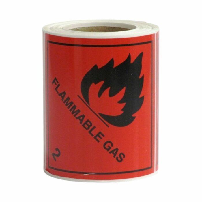 HD8230 UN Diamonds S_A on Roll 100 x 100mm 250 Labels Class 2 Flammable Gas