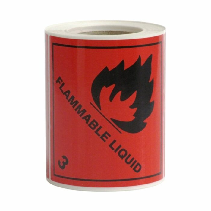 HD8301 UN Diamonds S_A on Roll 100 x 100mm 250 Labels Class 3 Flammable Liquid