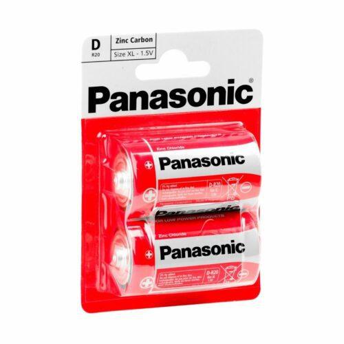 PL5020 Panasonic Zinc Carbon D Cell Batteries Pack of 2