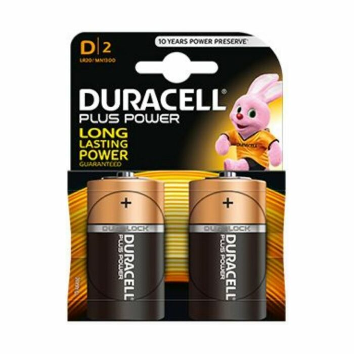 PL5022 Duracell D-Cell Batteries Pack of 2