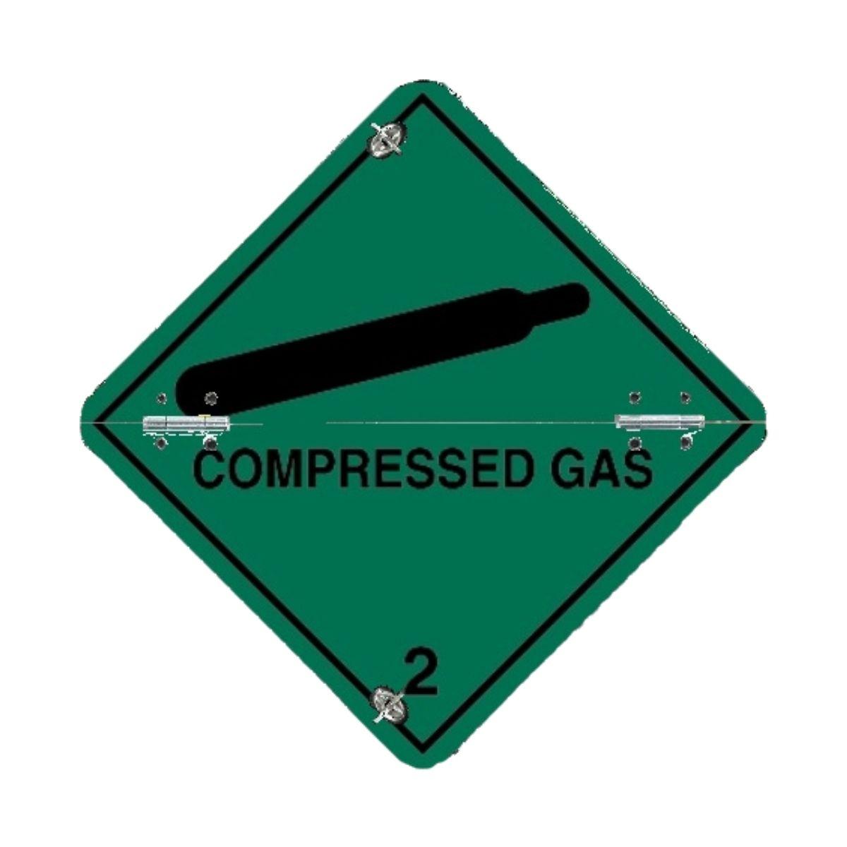 VS7210 Class 2 Compressed Gas Folding Diamonds 250 x 250mm