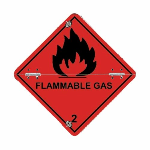 VS7230 Class 2 Flammable Gas Folding Aluminium Diamond 250 x 250mm