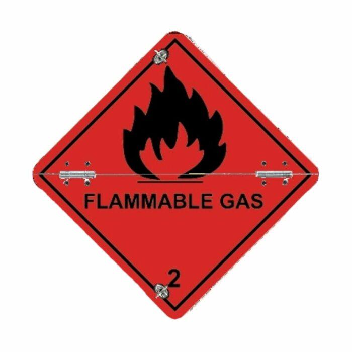 VS7230 Class 2 Flammable Gas Folding Aluminium Diamond 250 x 250mm