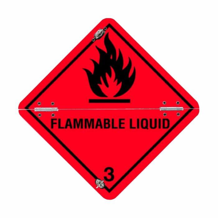 VS7302 Flammable Liquid Class 3 Folding Aluminium Diamond 250 x 250mm