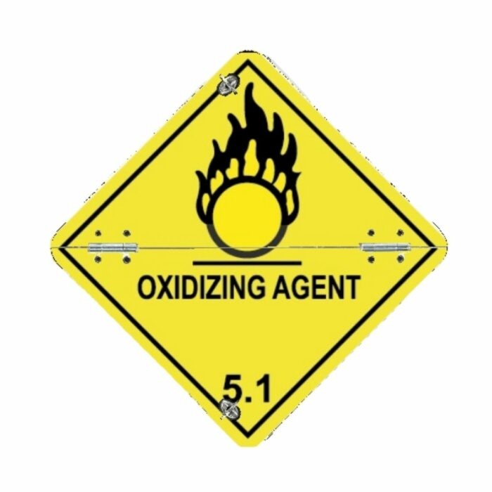 VS7510 Class 5.1 Oxidizing Agent Folding Diamond 250 x 250mm