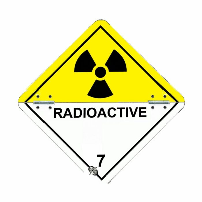VS7710 Class 7 Radioactive Folding Aluminium Hazard Warning Diamonds 250 x 250mm