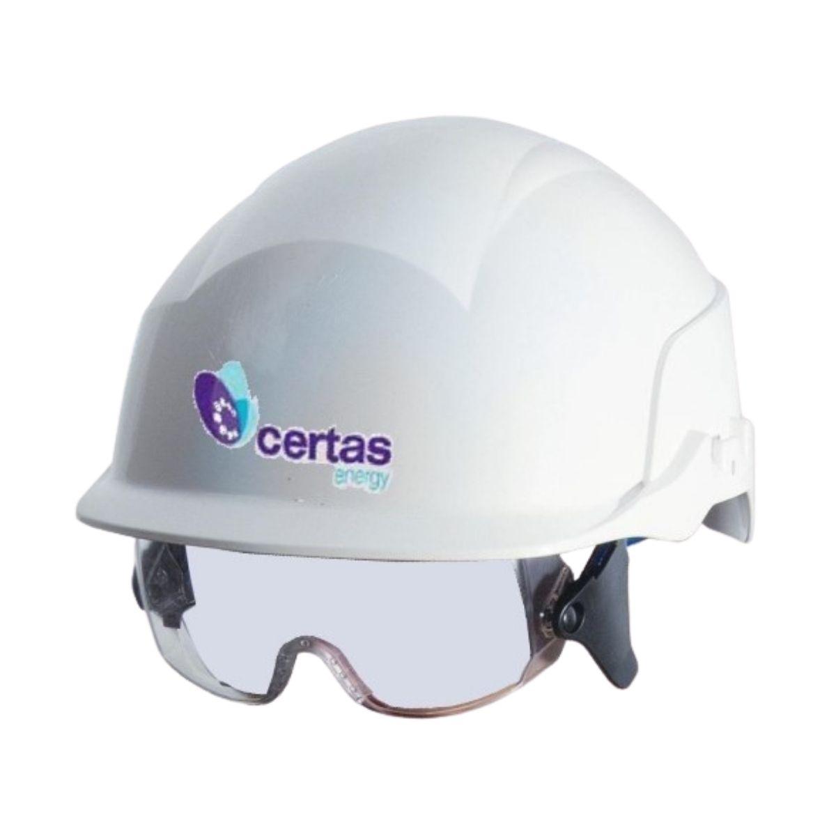 HF0533 Spectrum Safety Helmet & Visor with Certas Logo
