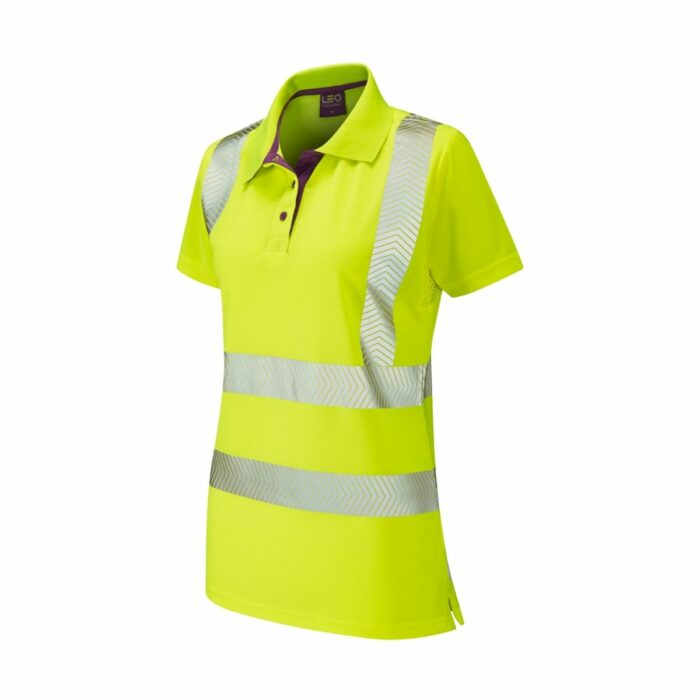 HV0041 Pippacott Class 2 Coolvis Plus Ladies Polo Shirt - Yellow