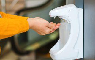 Hand Sanitiser Feature