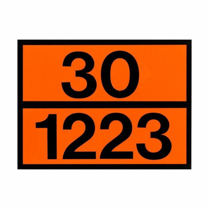 VS0160 Kemler Panel Placard Sign Aluminium 300 x 400mm