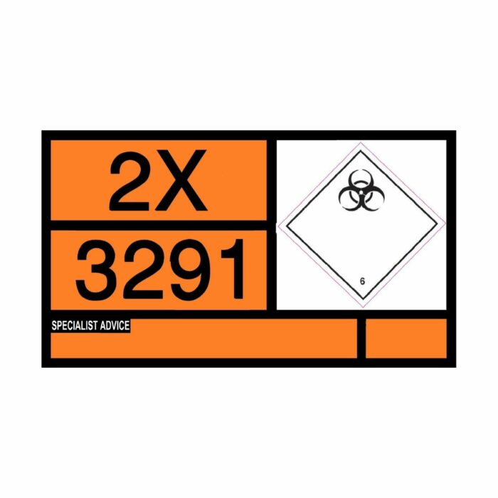VS2610 UN Placard Label for Static Tanks 700 x 400mm Class 6 Infectious Substance
