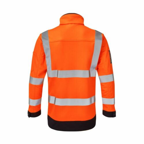 AS0059 HAZTEC® Cossack AS FR HV Softshell Jacket - Back