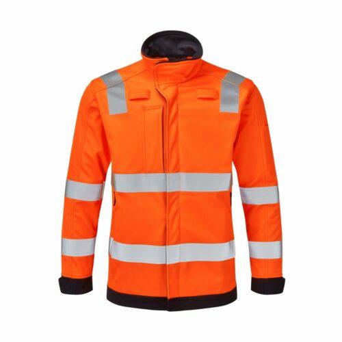orange hi vis softshell jacket