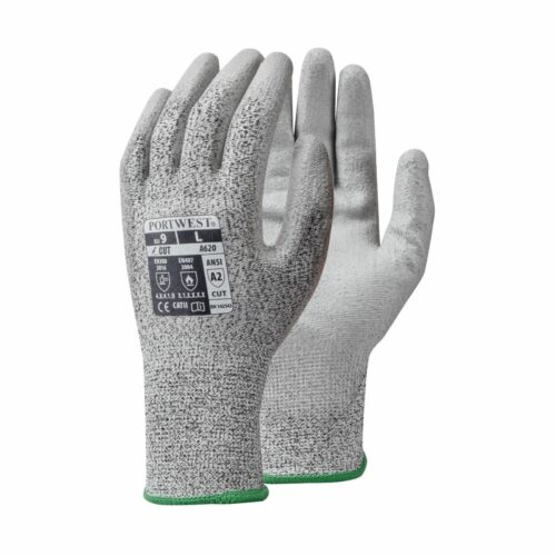 GL6200 Cut Level 3 Grey PU Palm Coated Glove