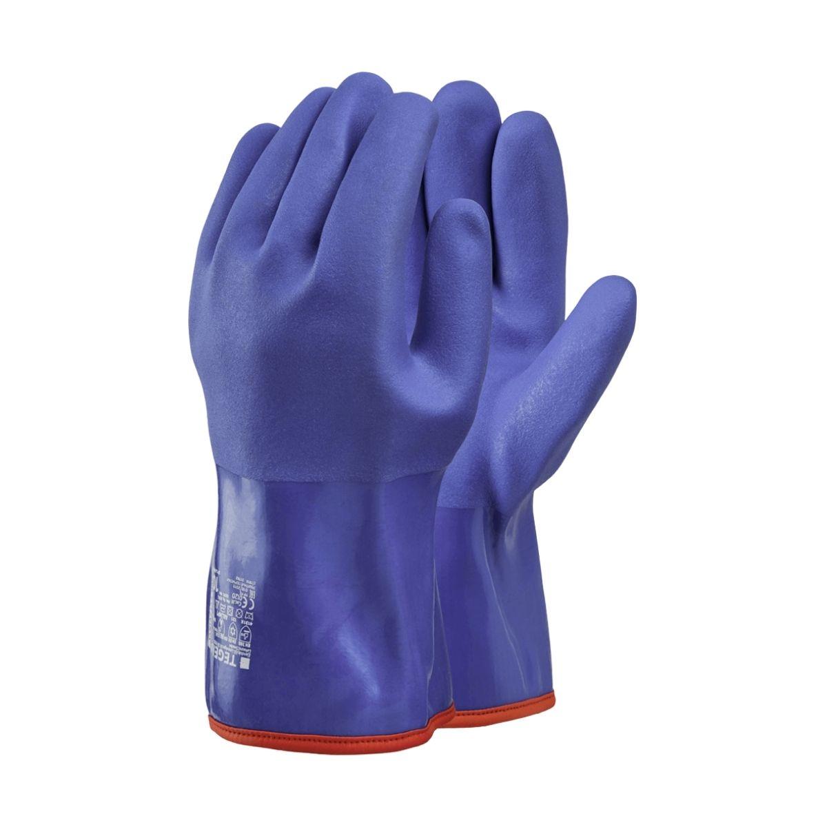 GL9394 Vyflex Boa Lined Blue PVC, Gauntlet, 35cm Long