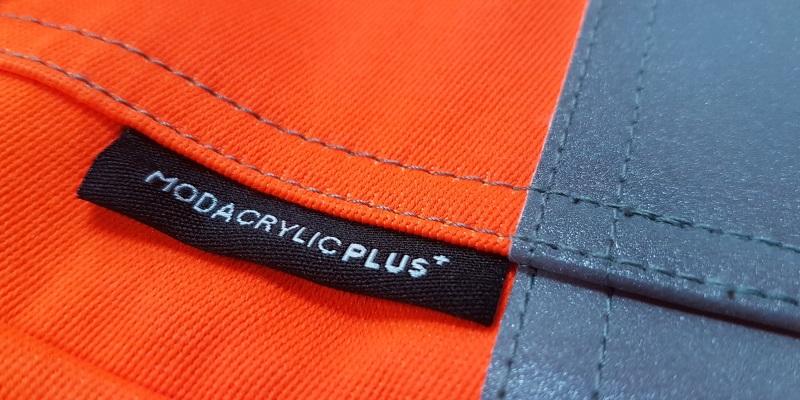 HAZTEC Modacrylic PLUS Orange Fabric