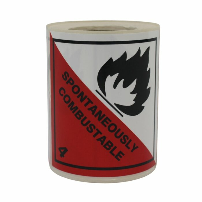 HD8410 UN Diamonds S_A on Roll 100 x 100mm 250 Labels Class 4.2 Spontaneously Combustible (2)