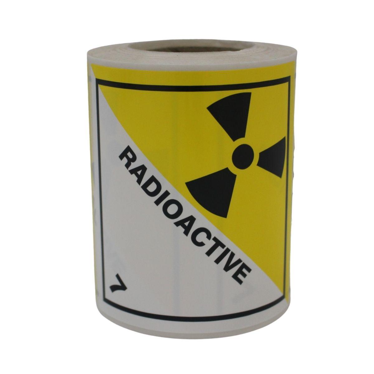 HD8710 UN Diamonds S_A on Roll 100 x 100mm 250 Labels Class 7 Radioactive