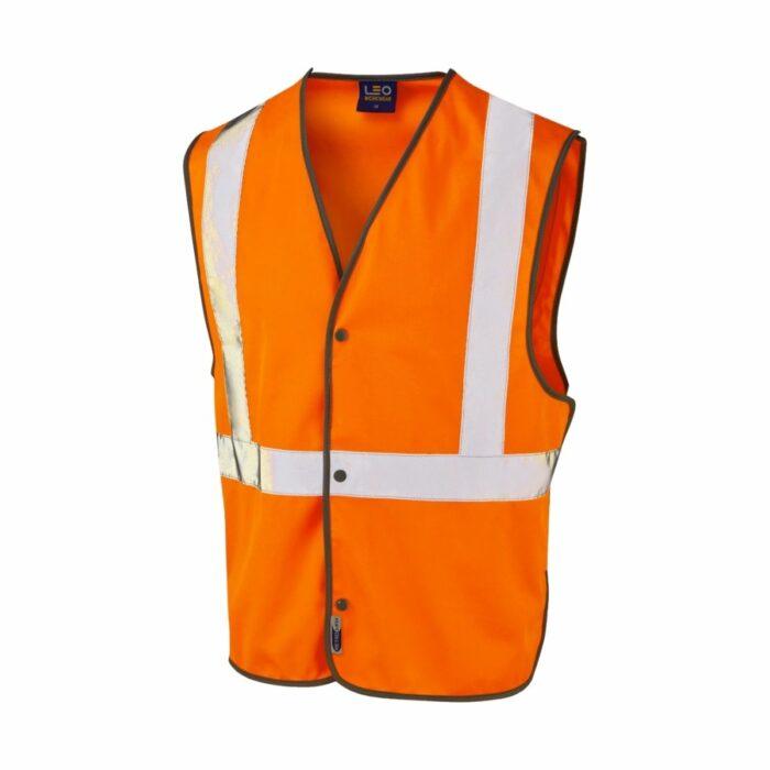 HV0100 High Visibility Class 2 Railtrack Zip Waistcoat