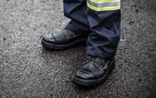 High Leg Zip Safety Boots