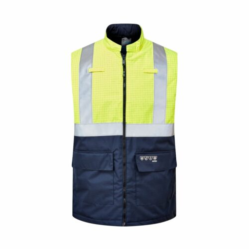 AS2466 FR AS Hi-Vis Waterproof Bodywarmer