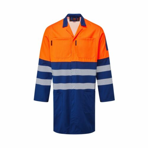 AS5890 HAZTEC FR AS ARC Class 1 High Visibility Lab Coat Two Tone